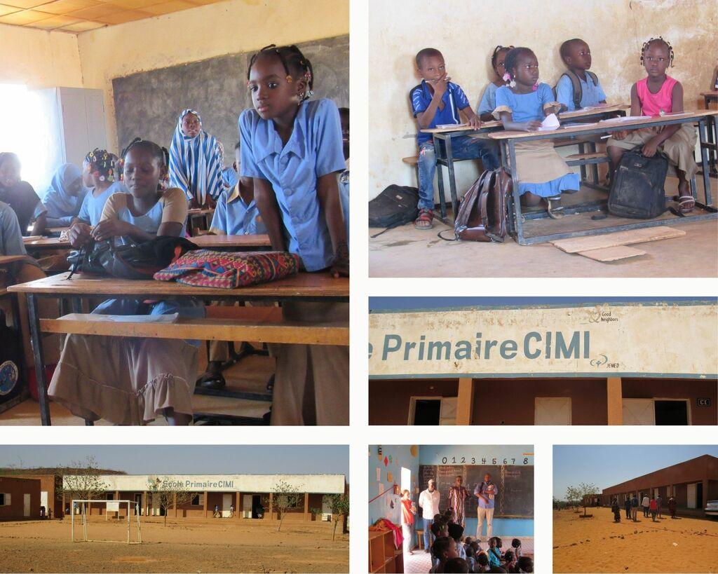 collage met fotos van basisschool in cimi