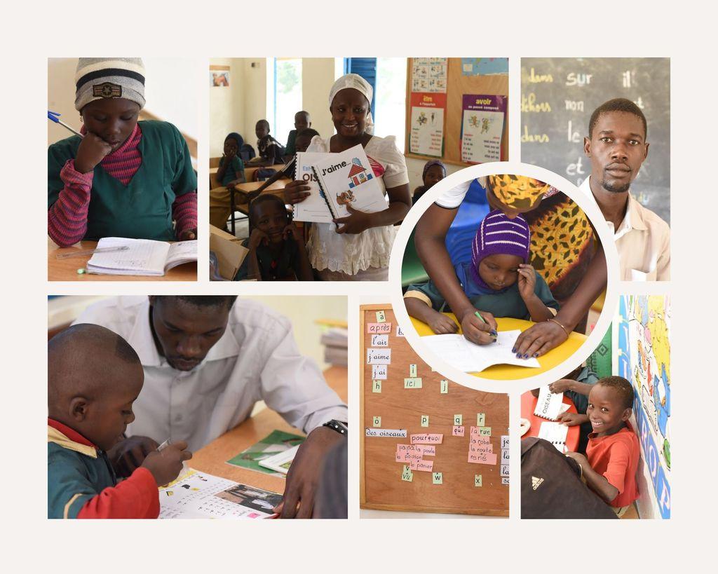 collage leerlingen en leerkrachten AECM