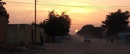 zonsondergang in niger